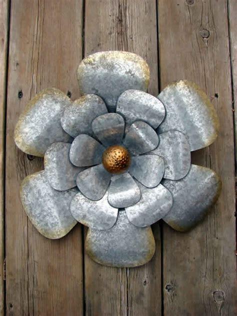 Flower Galvanized Metal Wall Decor Mondus Distinction