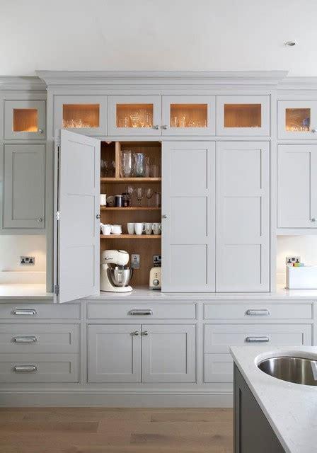 bi fold larder transitional kitchen dublin  woodale