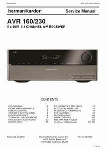 Harman Kardon Avr 160  Serv Man5  Service Manual  U2014 View