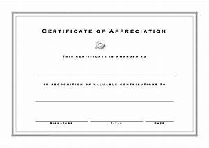 Blank Certificate Of Appreciation | www.imgkid.com - The ...