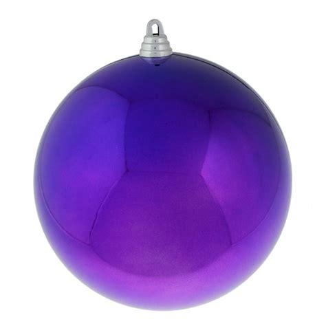purple baubles shiny shatterproof single 200mm