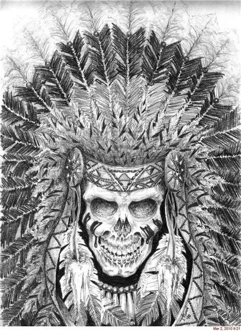 Pin by Flossie Minor on skulls n more   Indian skull tattoos, Headdress tattoo, Psychedelic tattoos