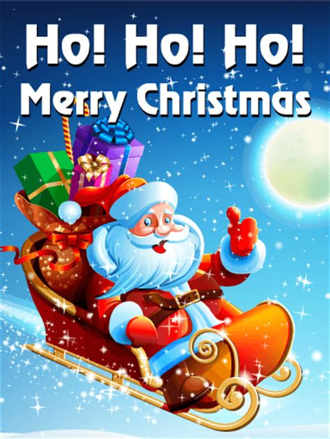 ho ho ho happy christmas card birthday greeting