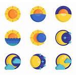 Moon Sun Icon Icons Weather Vectorified