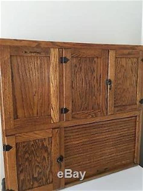 Antique Oak Hoosier Kitchen Cabinet early 1900's beautiful