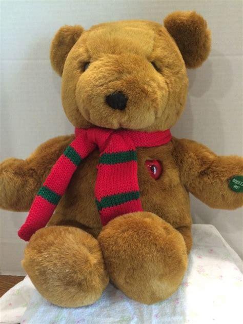 vintage plush  christmas bear musical teddy bear  works  pets  sale plush teddy bear