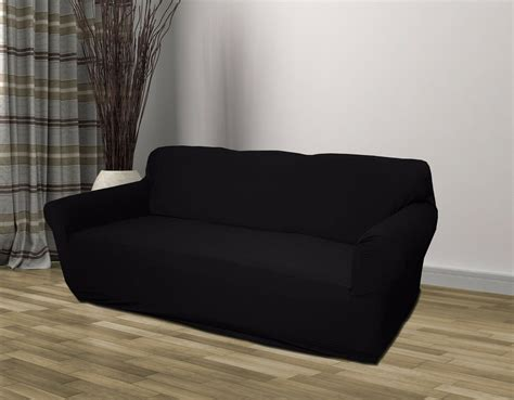 Black Loveseat Cover by Black Jersey Sofa Stretch Slipcover Cover Chair