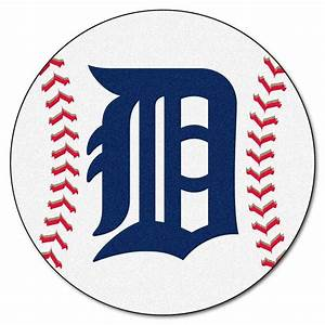 FANMATS MLB Detroit Tigers White 2 Ft 3 In X 2 Ft 3 In