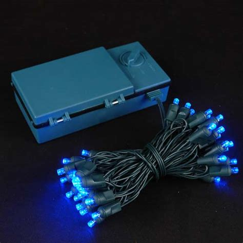 battery operated led light bulb 50 led battery operated christmas lights blue on green