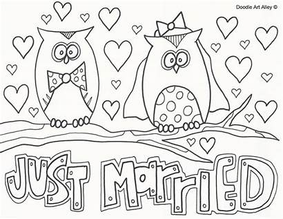 Coloring Doodle Alley Married Colouring Printable Keeping