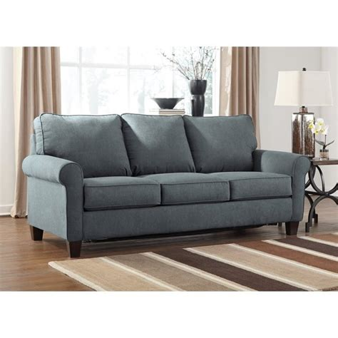 queen size sleeper sofa ashley zeth fabric queen size sleeper sofa in denim 2710139