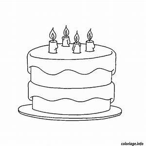 Dessin Gateau Anniversaire : coloriage anniversaire 4 ans dessin ~ Melissatoandfro.com Idées de Décoration