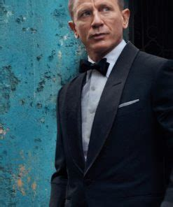 James Bond No Time To Die Black Tuxedo Suit - Just ...