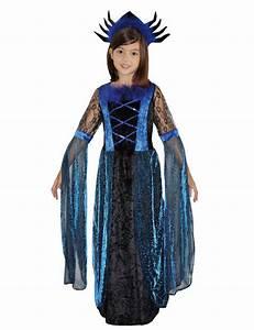 Faschingskostüme Kinder Mädchen : vampirin hexe gothic halloween kinderkost m blau schwarz hexe ~ Frokenaadalensverden.com Haus und Dekorationen