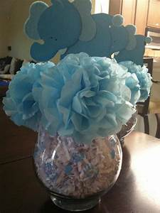 Easy, cheap centerpiece for a baby shower! Carnations made