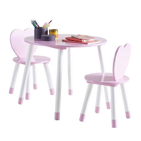 table et chaises enfants les tendances table et 2 chaises en bois blanc et