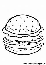 Cheeseburger Coloring Printable Getdrawings Drawing Getcolorings sketch template