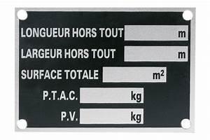 Plaque De Metal : plaque de tare m tal rulquin latour remorques ~ Teatrodelosmanantiales.com Idées de Décoration