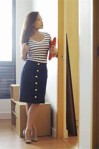 The gallery for --u0026gt; Blue Pencil Skirt Outfit Ideas