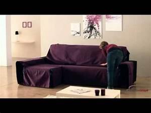 Jeté De Canapé D Angle : housse couvre canap d 39 angle universelle youtube ~ Teatrodelosmanantiales.com Idées de Décoration