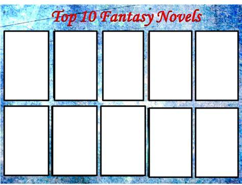 Top 10 Fantasy Novels Blank Meme By Ladybladewaragnel On