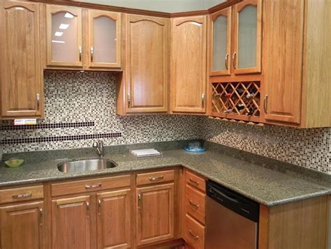 kitchen backsplash with cabinets kitchen backsplash ideas with oak cabinets home design ideas