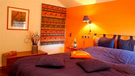 Bedroom  Amazing Burnt Orange Walls With Fireplace Colour