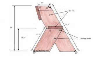 Aldo Leopold Chair by Easy Bench Plans Build Your Own Outdoor Bench