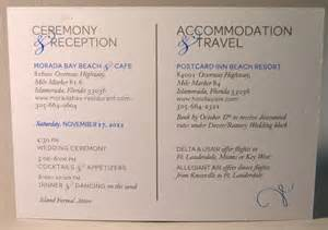 accommodations card wedding reception accommodation cards