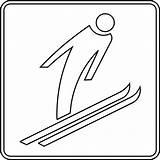 Ski Jump Clipart Outline Jumping Clip Etc Clipground Medium Usf Rs Edu sketch template