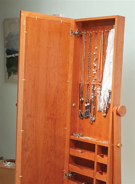 standing mirror woodworking project woodsmith plans