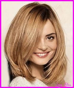 Medium Length Layered Haircut Round Face
