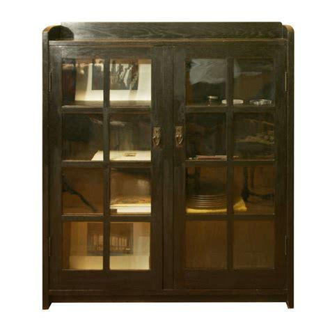 martin ivory glass door bookcase stunning glass door bookcase gustav stickley oak and glass