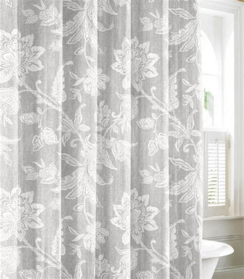 bahama bali gray cotton shower curtain