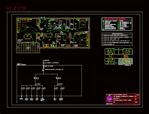 installation  electrical circuits electricdad dwg block