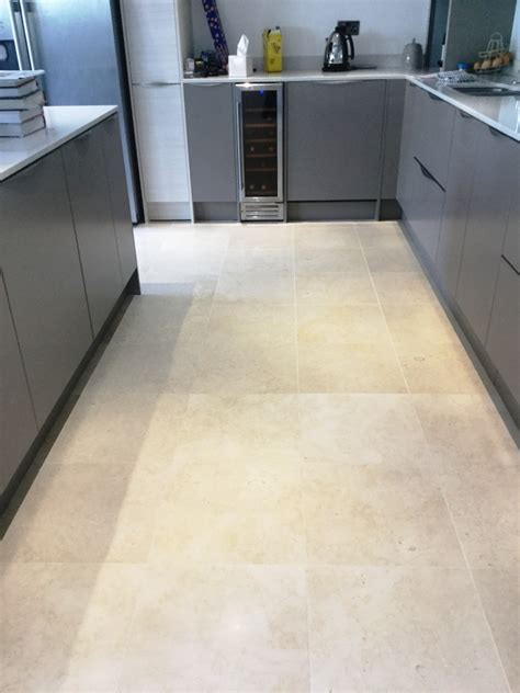 Deep Cleaning A Polished Limestone Kitchen Floor In
