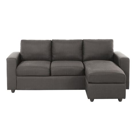 canapé d angle gris tissu canapé d 39 angle 3 places en tissu gris jules maisons du monde