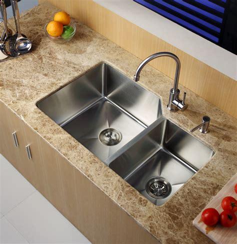 40 inch kitchen sink kraus khu12332 32 inch undermount 60 40 bowl 3905