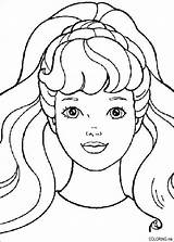 Coloring Barbie Pages sketch template