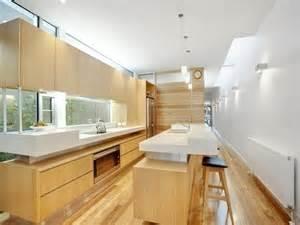 Small Kitchen Layouts With Island Modern Galley Kitchen Design Using Hardwood Kitchen Photo 169581