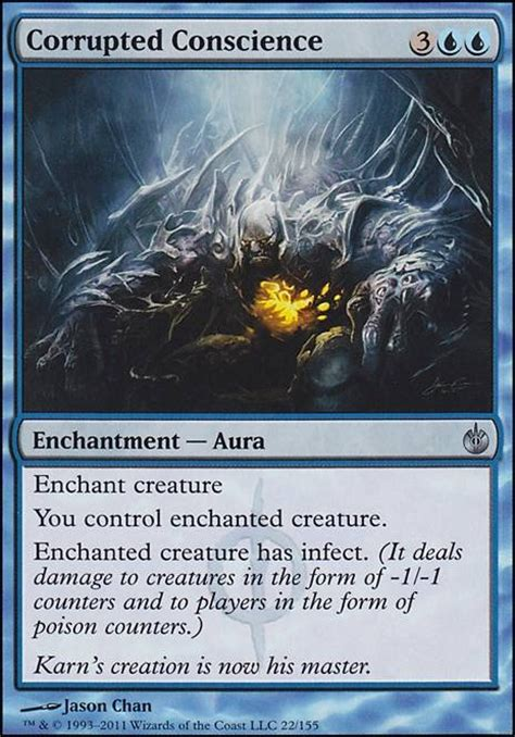 mtg infect deck edh corrupted conscience mbs mtg card