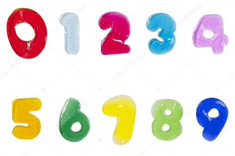 Alphabet Letters Number Jelly Stick On White Background