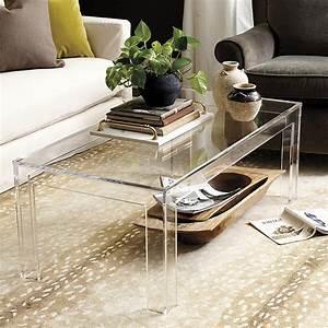 felicity acrylic coffee table ballard designs With plexi coffee table