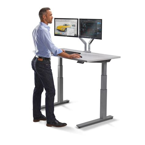 Standing Workstation  Electric Adjustable Height Desk. Office Desk Inspiration. Organize My Desk. Picnic Tables For Rent. Glass Dining Room Table. Adjustable Sit Stand Desk. Media Chest With Drawers. Dining Table With Drawer. Dual Monitor Arm Desk Mount