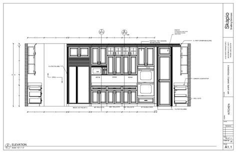 sample kitchen elevation shop drawings kitchen design
