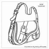 Drawing Designer Bags Bag Handbags Sketch Dior Chanel Handbag Illustration Iconic Sac Gaucho Purse Barbie Getdrawings Miniatures Disegno Borsa Cad sketch template