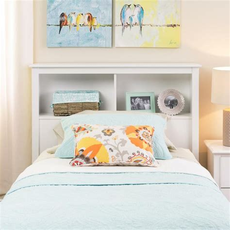 Size White Storage Bed With Bookcase Headboard by Size Bed Storage Shelf Headboard White New Ebay