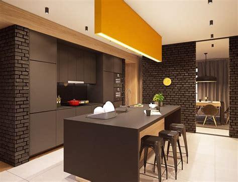 d馗oration d une cuisine brique et cuisine 15 modèles de murs en brique pour un style mi rétro mi industriel d 39 inspiration déco design
