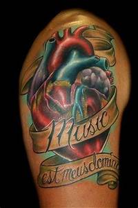 Real heart tattoos, Heart tattoos and Music on Pinterest