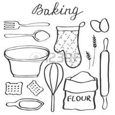 dessin d ustensiles de cuisine vecteur cuisine ustensiles silhouette vecteur